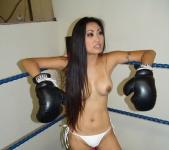image Topless foxy boxing ariel x vs nicole boxing