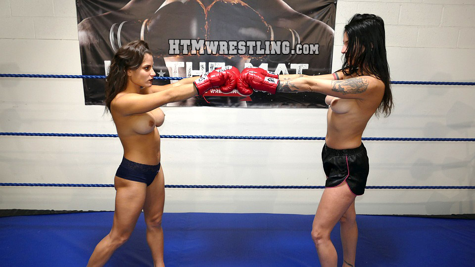 Topless boxing video
