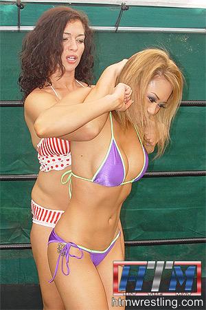 Carla vs Frankie Wrestling