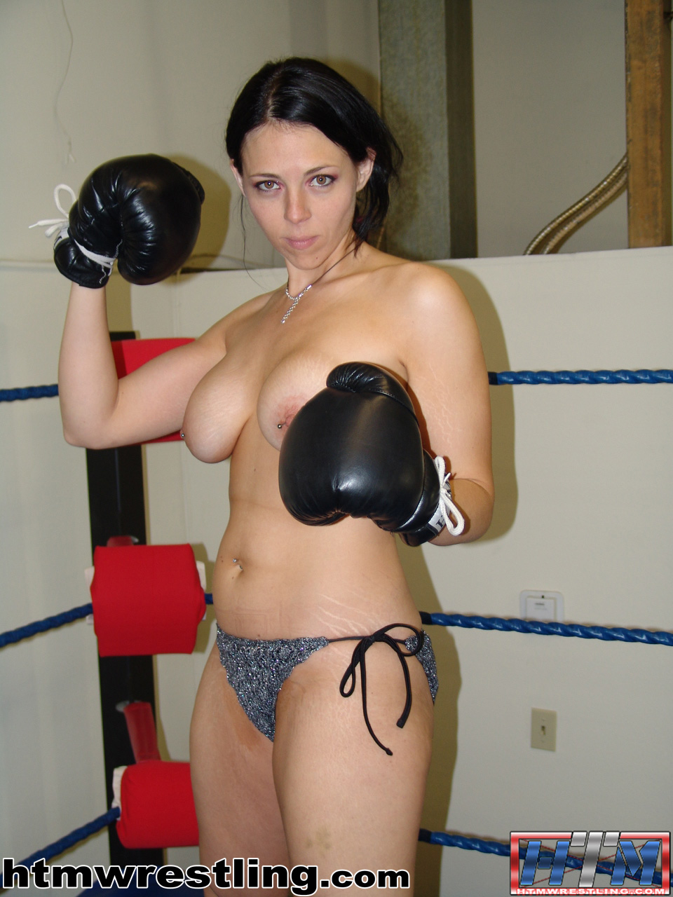Topless boxing women, girl nude up close showingeverything