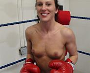 Hotstuff Hollie Topless POV Boxing