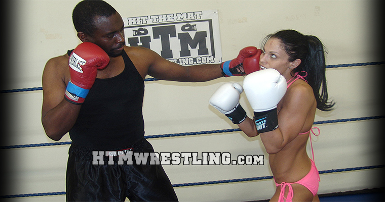 Mixed Boxing Sparring Courtney Golden Gloves