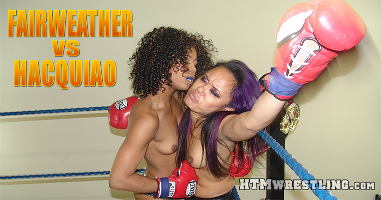 Foxy Boxing Interracial Fight