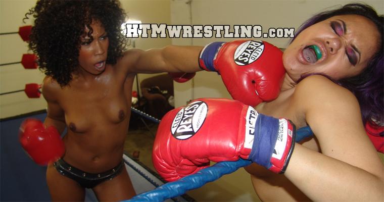 Foxy Boxing Interracial Fight