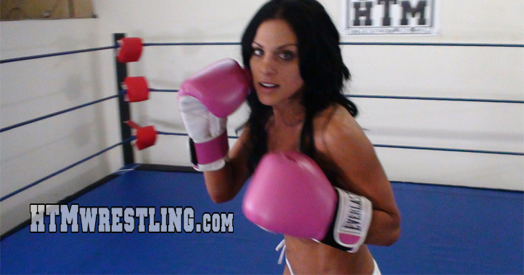 POV Topless Boxing Asian Babe