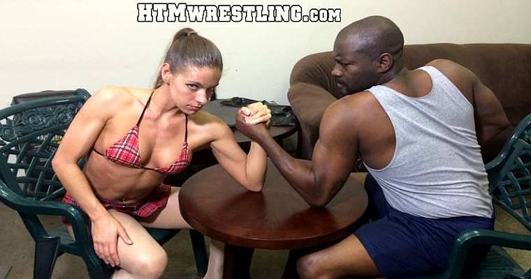 Strong Female Muscle Arm Wrestling