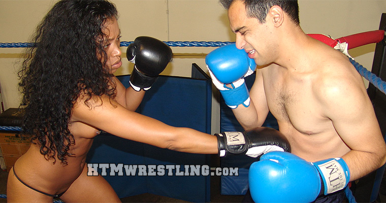 Mixed Boxing Femdom Beatdown